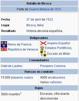 Batalla de Bicoca / Battle of Bicocca